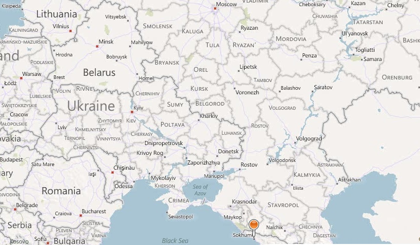 Карта побережье абхазии с пансионатами