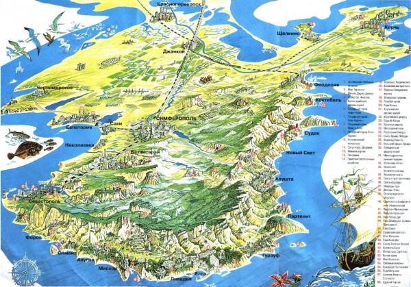 Карта Крыма. Побережье | Виртуальный туризм: http://virtune.ru/karta-kryma-poberezhe/