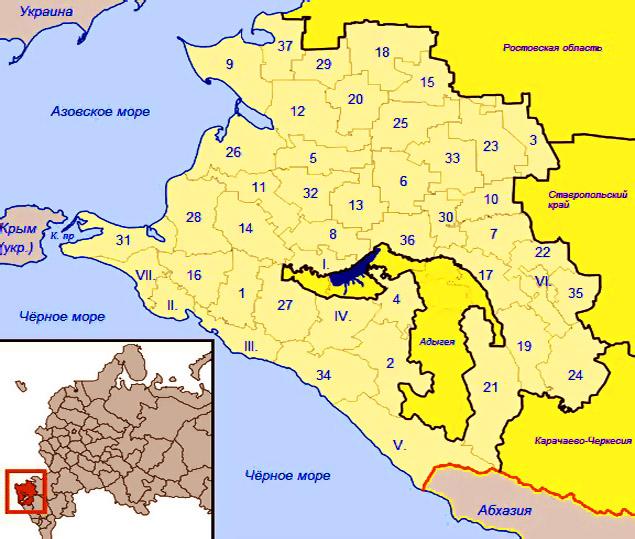 карта схема границ .